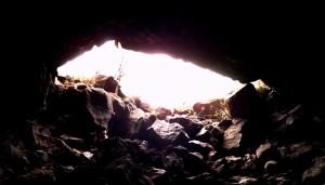 exit Pluto's cave