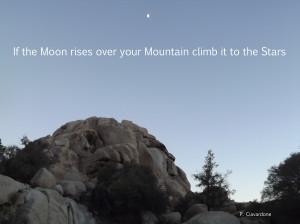 Moon over rocks2